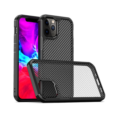 AMZER SlimGrip Carbon Fiber Texture Ultra Hybrid Case for Apple iPhone 12 Pro Max