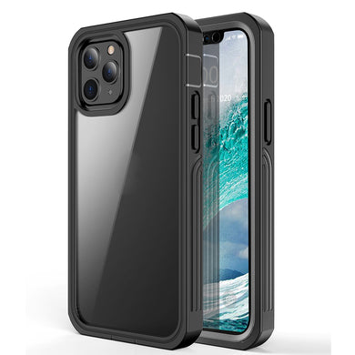 AMZER CRUSTA™ Rugged Tempered Glass Case for iPhone 12 Pro Max - Black