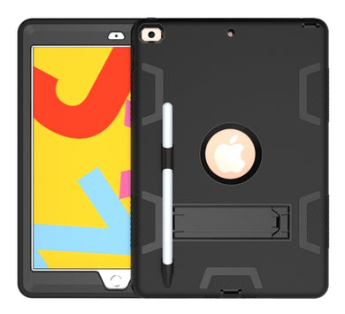 AMZER Shockproof PC + Silicone Protective Case with Holder & Pen Slot for iPad 10.2/iPad 8th Generation 10.2 inch