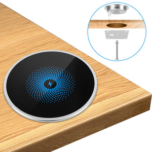 AMZER 15W Fast Charging Wireless Charger Ultra Thin Desktop Embedded