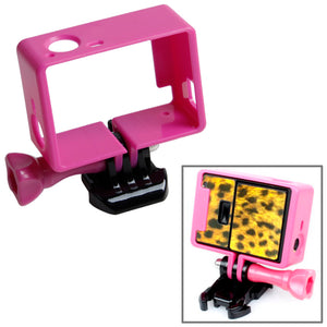AMZER High Quality Tripod Cradle Frame Mount Housing for GoProHERO4 /3+ /3, HR191 - Magenta