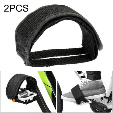 AMZER Bicycle Pedals Bands Feet Set With Anti-slip Straps Beam Foot - 2 PCS