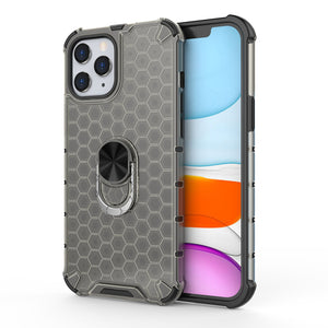 AMZER Honeycomb SlimGrip Hybrid Case with Holder for iPhone 12 mini