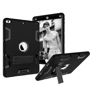 AMZER Shockproof PC + Silicone Protective Case with Holder for Apple iPad 9.7 inch (2018)/ Apple iPad 9.7 inch (2017)