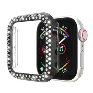 AMZER Double Row Diamonds PC Protective Case for Apple Watch Series 5/4 40mm