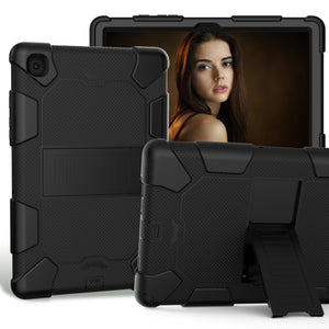 AMZER Shockproof PC + Silicone Protective Case with Holder for Samsung Galaxy Tab A7 (2020) T500/T505