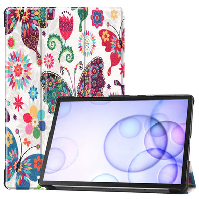 AMZER Colored Drawing Horizontal Flip Leather Case With 3-Fold Holder & Sleep/ Wake-up Function for Samsung Galaxy Tab S6 T860 / T865
