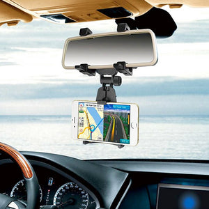 AMZER Universal Car Mount Holder Smartphone Stand Rear-view Mirror Holder Bracket for 3.5-5.0 inch Mobile Phone