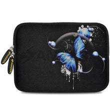 Load image into Gallery viewer, AMZER 7.75 Inch Neoprene Zipper Sleeve Pouch Tablet Bag - Blue Butterfly - fommystore