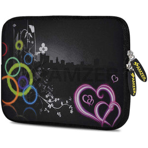 AMZER 7.75 Inch Neoprene Zipper Sleeve Pouch Tablet Bag - Love Wonders - fommystore