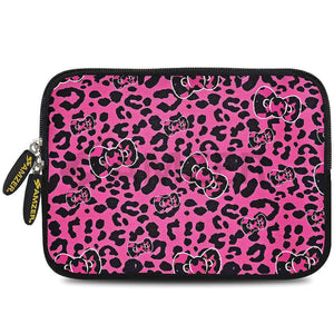 AMZER 7.75 Inch Neoprene Zipper Sleeve Pouch Tablet Bag - Pink Panther Bow - fommystore