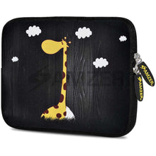 Load image into Gallery viewer, AMZER 7.75 Inch Neoprene Zipper Sleeve Pouch Tablet Bag - Dreamer Girraff - fommystore