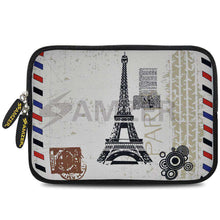 Load image into Gallery viewer, AMZER 7.75 Inch Neoprene Zipper Sleeve Pouch Tablet Bag - Paris Postcard - fommystore