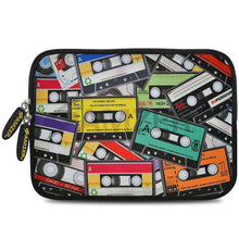 Load image into Gallery viewer, AMZER 7.75 Inch Neoprene Zipper Sleeve Pouch Tablet Bag - Audio Cassette Scatter - fommystore
