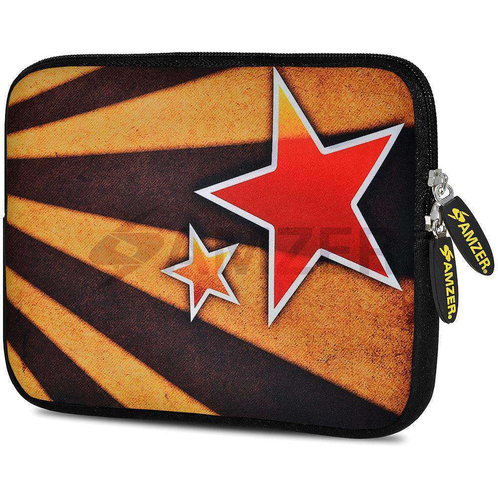 AMZER 7.75 Inch Neoprene Zipper Sleeve Pouch Tablet Bag - Twin Stars - fommystore