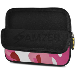 AMZER 7.75 Inch Neoprene Zipper Sleeve Pouch Tablet Bag - Pink Army - fommystore