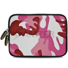 Load image into Gallery viewer, AMZER 7.75 Inch Neoprene Zipper Sleeve Pouch Tablet Bag - Pink Army - fommystore