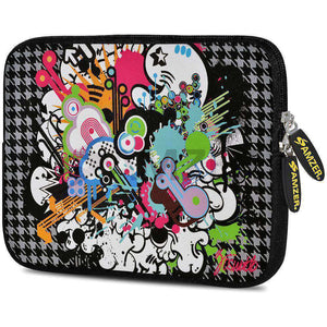 AMZER 10.5 Inch Neoprene Zipper Sleeve Pouch Tablet Bag - Funky Mix - fommystore