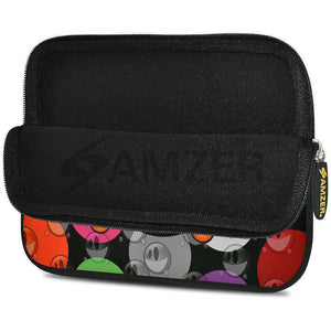 AMZER 10.5 Inch Neoprene Zipper Sleeve Pouch Tablet Bag - Smiley Bubble - fommystore