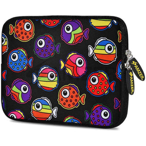 AMZER 7.75 Inch Neoprene Zipper Sleeve Pouch Tablet Bag - Rainbow Fish - fommystore