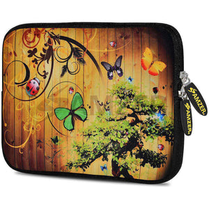 AMZER 7.75 Inch Neoprene Zipper Sleeve Pouch Tablet Bag - Bonsai Butterfly - fommystore