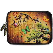 Load image into Gallery viewer, AMZER 7.75 Inch Neoprene Zipper Sleeve Pouch Tablet Bag - Bonsai Butterfly - fommystore