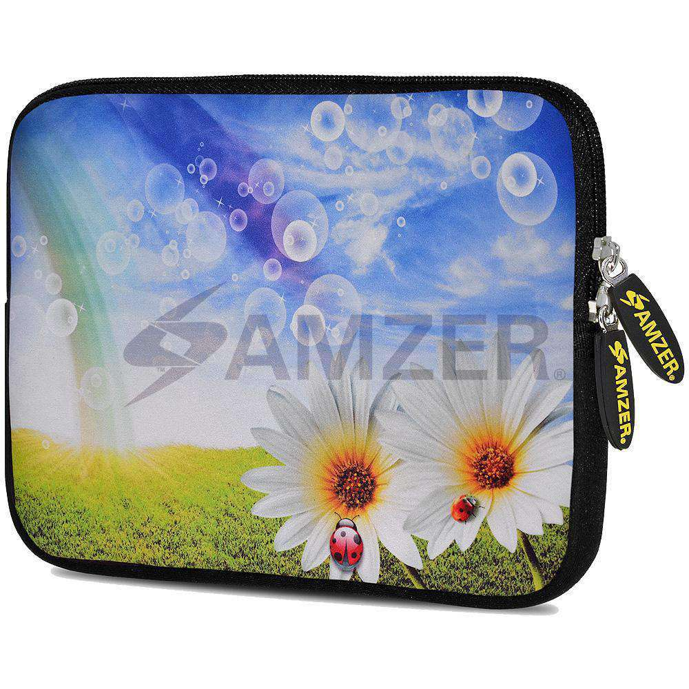 AMZER 7.75 Inch Neoprene Zipper Sleeve Pouch Tablet Bag - Daisy Springs - fommystore