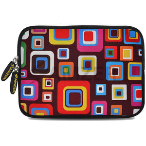 AMZER 10.5 Inch Neoprene Zipper Sleeve Pouch Tablet Bag - Retro Squares - fommystore