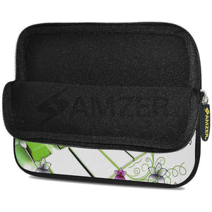 AMZER 7.75 Inch Neoprene Zipper Sleeve Pouch Tablet Bag - Green Keys - fommystore