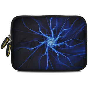 AMZER 7.75 Inch Neoprene Zipper Sleeve Pouch Tablet Bag - Aqua Neuron - fommystore