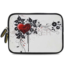 Load image into Gallery viewer, AMZER 7.75 Inch Neoprene Zipper Sleeve Pouch Tablet Bag - Vintage Red Heart - fommystore