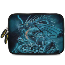 Load image into Gallery viewer, AMZER 7.75 Inch Neoprene Zipper Sleeve Pouch Tablet Bag - Teal Dragon - fommystore