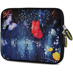 AMZER 7.75 Inch Neoprene Zipper Sleeve Pouch Tablet Bag - Butterfly Dream - fommystore