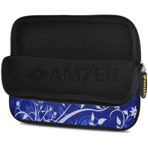 AMZER 7.75 Inch Neoprene Zipper Sleeve Pouch Tablet Bag - White Lotus - fommystore