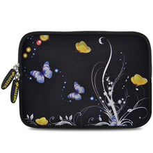 Load image into Gallery viewer, AMZER 7.75 Inch Neoprene Zipper Sleeve Pouch Tablet Bag - Yellow Night Butterfly - fommystore