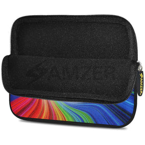 AMZER 7.75 Inch Neoprene Zipper Sleeve Pouch Tablet Bag -Rainbow Peace - fommystore
