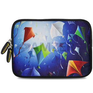 AMZER 7.75 Inch Neoprene Zipper Sleeve Pouch Tablet Bag - Colored Fishes - fommystore