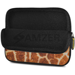 AMZER 7.75 Inch Neoprene Zipper Sleeve Pouch Tablet Bag - Giraff Safari - fommystore