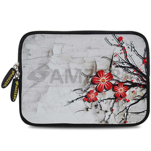 AMZER 7.75 Inch Neoprene Zipper Sleeve Pouch Tablet Bag - Red Rose - fommystore