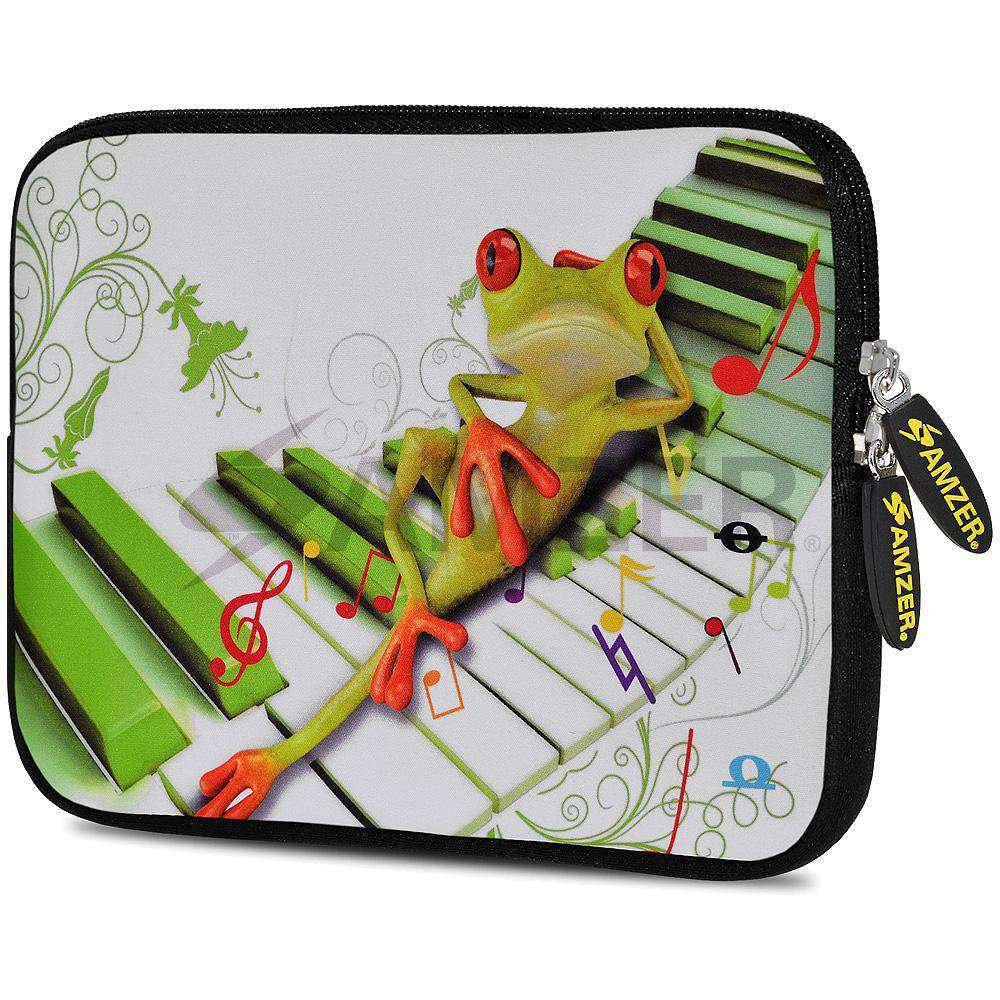 AMZER 7.75 Inch Neoprene Zipper Sleeve Pouch Tablet Bag - Relaxing Frog - fommystore