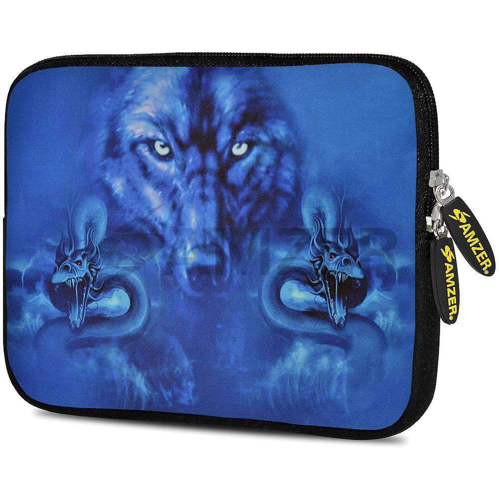 AMZER 7.75 Inch Neoprene Zipper Sleeve Pouch Tablet Bag - Blue Trix - fommystore