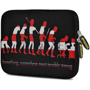 AMZER 7.75 Inch Neoprene Zipper Sleeve Pouch Tablet Bag - Evolution Cycle - fommystore