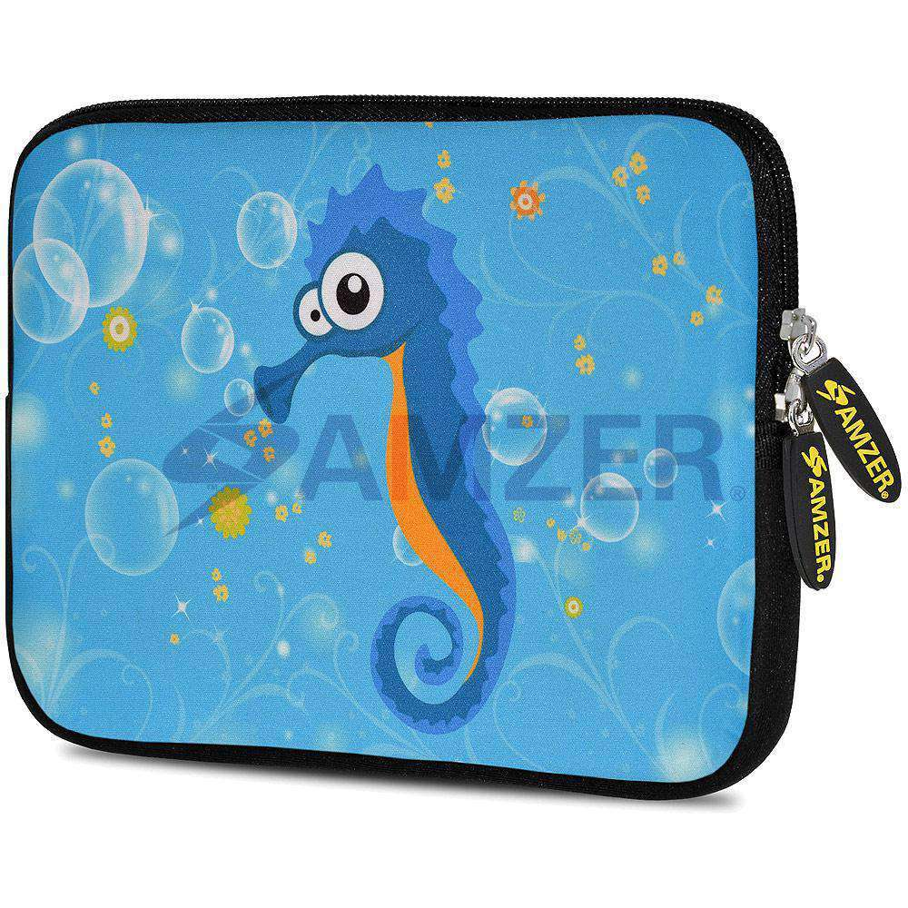 AMZER 7.75 Inch Neoprene Zipper Sleeve Pouch Tablet Bag - Sea Horse - fommystore