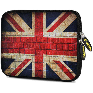 AMZER 7.75 Inch Neoprene Zipper Sleeve Pouch Tablet Bag - Antique Union Jack - fommystore