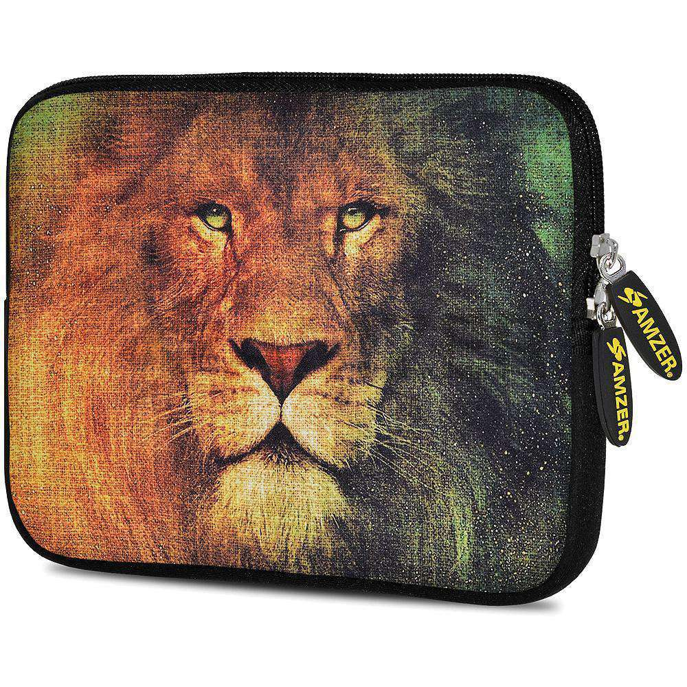 AMZER 7.75 Inch Neoprene Zipper Sleeve Pouch Tablet Bag - King Lion - fommystore
