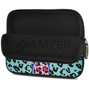 AMZER 7.75 Inch Neoprene Zipper Sleeve Pouch Tablet Bag - Blue Safari - fommystore