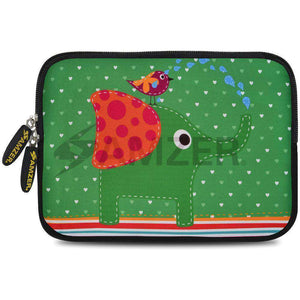AMZER 10.5 Inch Neoprene Zipper Sleeve Pouch Tablet Bag - Elephant Salutes - fommystore