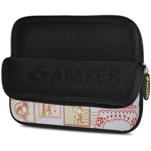 AMZER 7.75 Inch Neoprene Zipper Sleeve Pouch Tablet Bag - Pink Dreams - fommystore