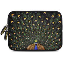 Load image into Gallery viewer, AMZER 7.75 Inch Neoprene Zipper Sleeve Pouch Tablet Bag - Dancing Peacock - fommystore