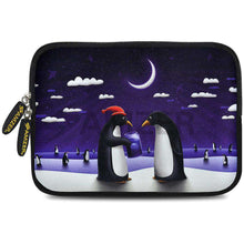 Load image into Gallery viewer, AMZER 7.75 Inch Neoprene Zipper Sleeve Pouch Tablet Bag - Penguin Life - fommystore
